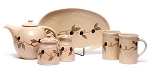 Tuscan Olive Leaf (6) Piece Tea Set
