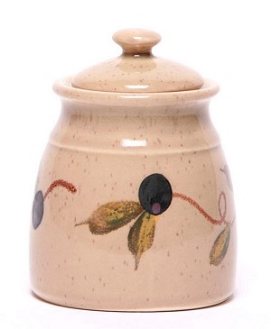 Tuscan Olive Leaf Sugar Jar